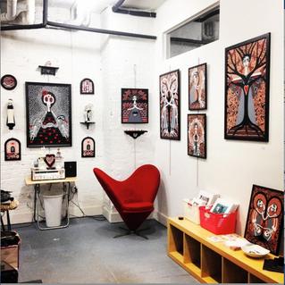 ARTIST STUDIO OF DANIELLE CHARETTE AT CAVE ART GALLERY BROOKLYN NY