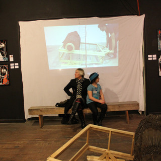 ARTIST DANIELLE CHARETTE AND WOLFIE CHAR