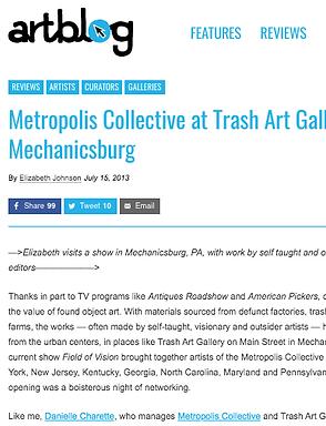 danielle charette & metropolis collective in artblog.org