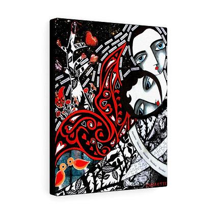 """PAMOISON (SWOON) ""  FINE ART PRINT ON CANVAS BY ARTIST DANIELLE CHARETTE"