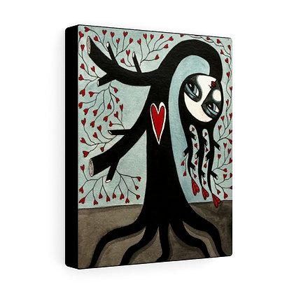 """THE TREE WIDOW #3""  FINE ART PRINT ON CANVAS BY ARTIST DANIELLE CHARETTE"