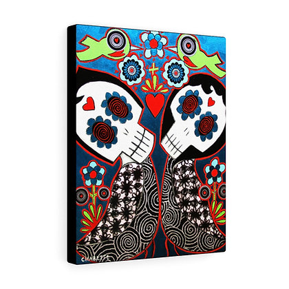 """LOVE BIRDS #1"" FINE ART PRINT ON CANVAS BY ARTIST DANIELLE CHARETTE"