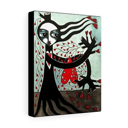 """THE TREE WIDOW #1""  FINE ART PRINT ON CANVAS BY ARTIST DANIELLE CHARETTE"