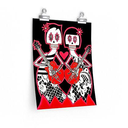 """GRETSCH LOVERS"" FINE ART PRINT ON PAPER BY ARTIST DANIELLE CHARETTE"