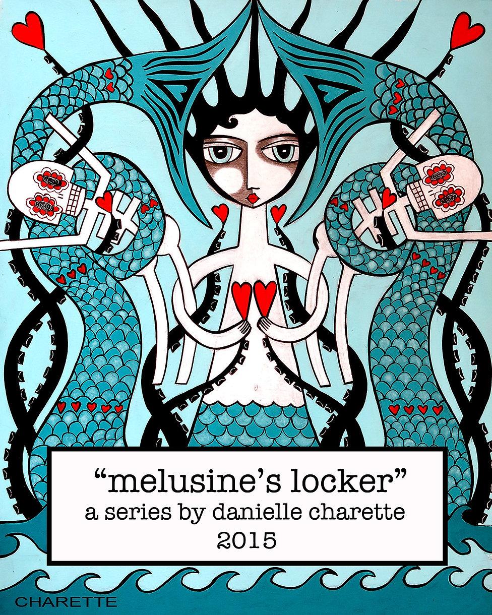 ARTIST DANIELLE CHARETTE ART PAINTINGS MELUSINE'S LOCKER