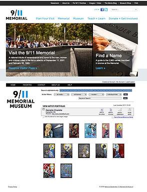 ARTIST DANIELLE CHARETTE ART NATIONAL SEPTEMBER 11TH MUSEUM NY