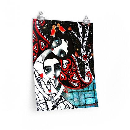 """THE NIGHT SOUNDS"" FINE ART PRINT ON PAPER BY ARTIST DANIELLE CHARETTE"