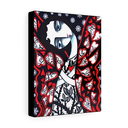 """""""BUTTERFLY IN WINTER""""  FINE ART PRINT ON CANVAS BY ARTIST DANIELLE CHARETTE"""