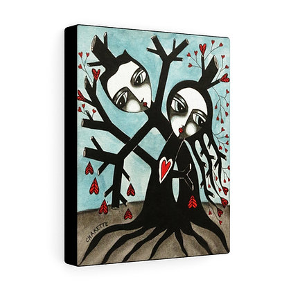 """THE TREE WIDOW #4""  FINE ART PRINT ON CANVAS BY ARTIST DANIELLE CHARETTE"