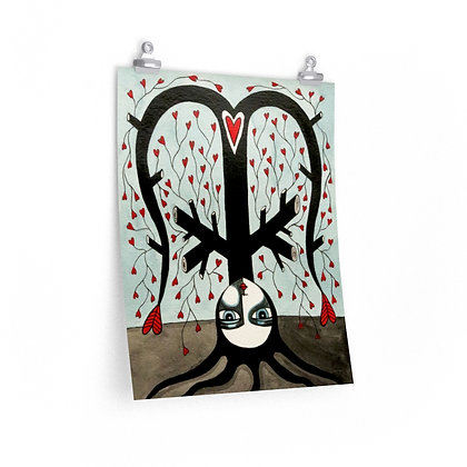 """TREE WIDOW 6"" FINE ART PRINT ON PAPER BY ARTIST DANIELLE CHARETTE"