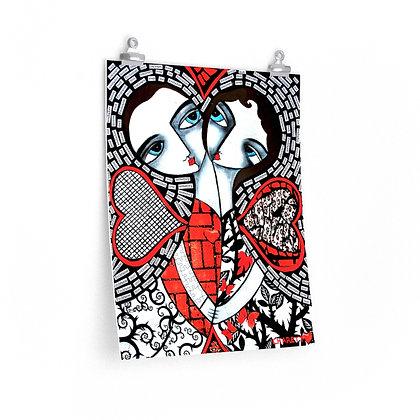 """ALWAYS KISS ME"" FINE ART PRINT ON PAPER BY ARTIST DANIELLE CHARETTE"