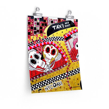 """VOODOO TAXI"" FINE ART PRINT ON PAPER BY ARTIST DANIELLE CHARETTE"