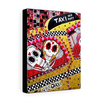 """VOODOO TAXI"" FINE ART PRINT ON CANVAS BY ARTIST DANIELLE CHARETTE"