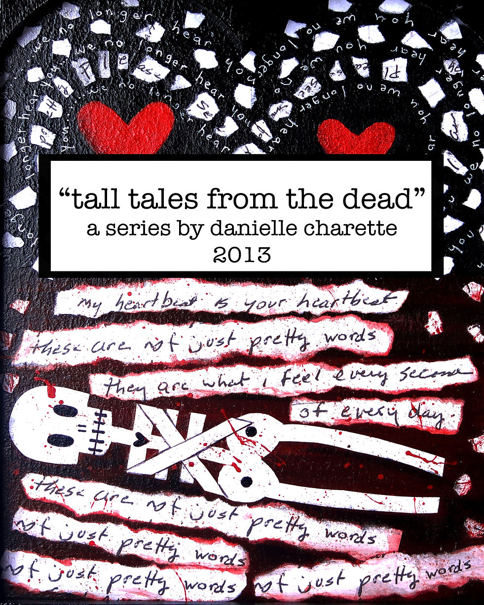 artist danielle charette tall tales from the dead painting series