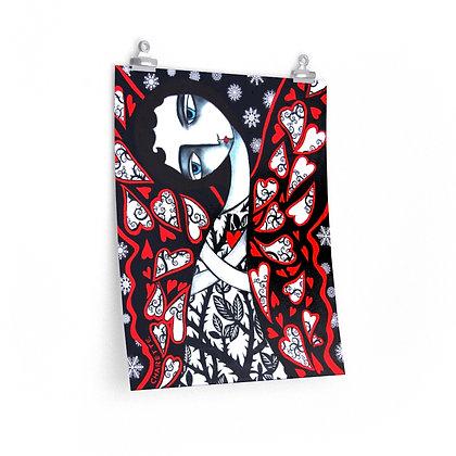"""""""BUTTERFLY IN WINTER"""" FINE ART PRINT ON PAPER BY ARTIST DANIELLE CHARETTE"""