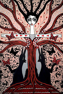 danielle charette art, the girl who was