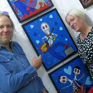 ARTIST DANIELLE CHARETTE WITH ROCK GOD H