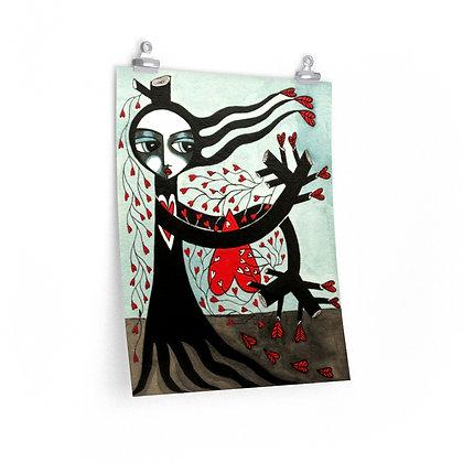 """""""TREE WIDOW 8"""" FINE ART PRINT ON PAPER BY ARTIST DANIELLE CHARETTE"""