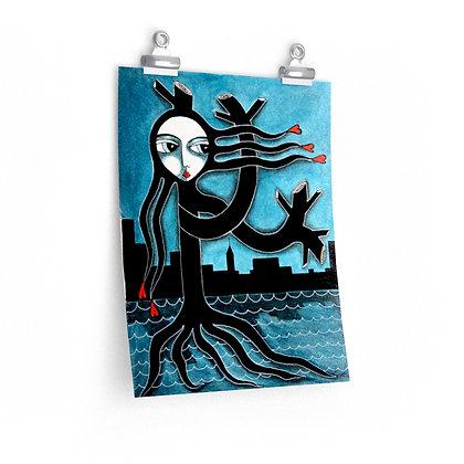 """""""TREE GROWS IN BROOKLYN"""" FINE ART PRINT ON PAPER BY ARTIST DANIELLE CHARETTE"""