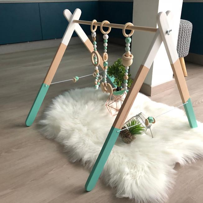 Modèle Blanc et Turquoise