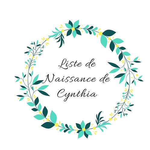 Liste de naissance de Cynthia