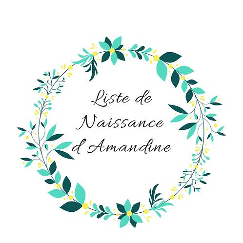 Arche liste de naissance Amandine