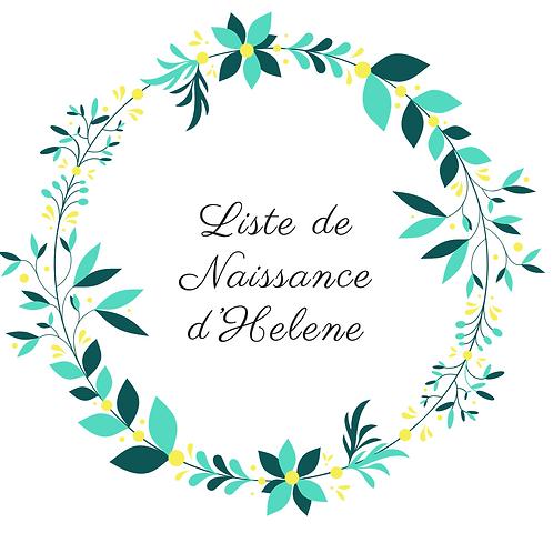 Arche liste de naissance Hélène