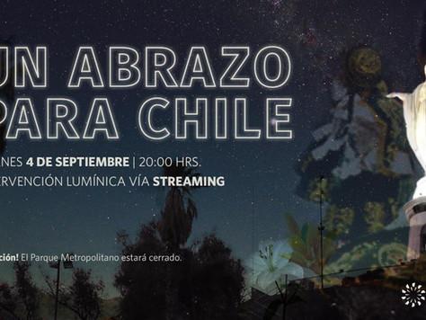 Un Abrazo para Chile, el proyecto que iluminó el Cerro San Cristóbal en un gesto de unidad