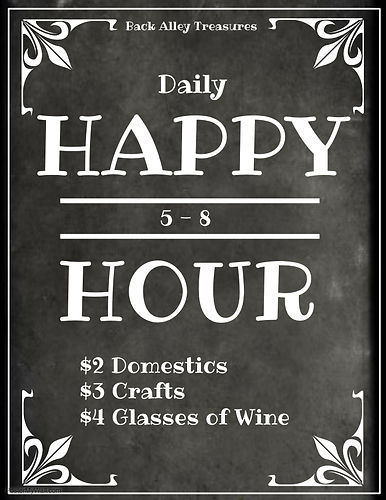 5 to 8 Happy Hour - Made with PosterMyWa