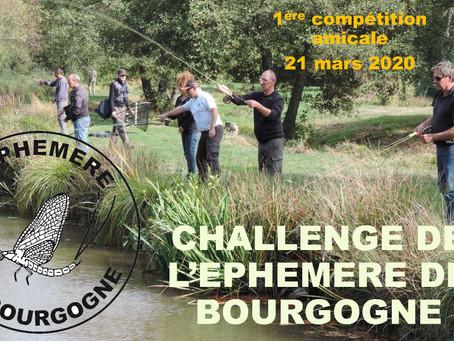 Le CHALLENGE DE L'ÉPHÉMÈRE DE BOURGOGNE est de retour ! 1ère compétition amicale le 21 mars 2020 !