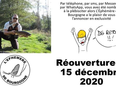 Devant le plébiscite de ses fidèles, L'Ephémère de Bourgogne rouvrira le 15 décembre 2020
