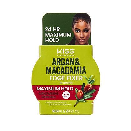 Kiss Argan & Macadamia Edge Fixer Maximum Hold 2.25 oz