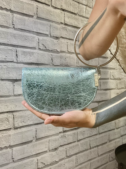 Handbag Blue Shinny