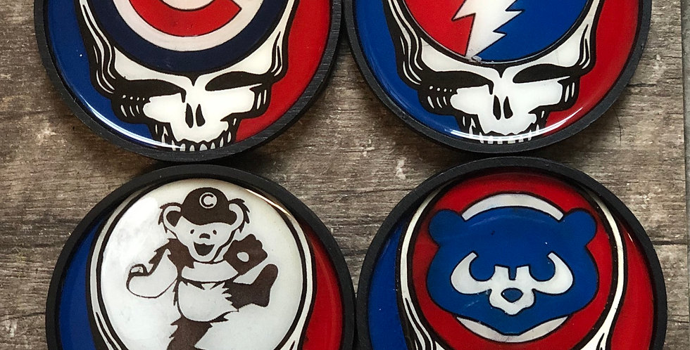 Grateful Dead Cubs Coasters (Set of 4 or 6)