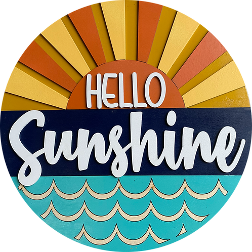 Hello Sunshine Door Hanger