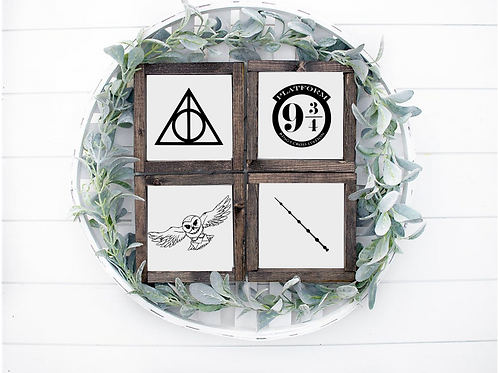 Harry Potter Signs - Set of 4