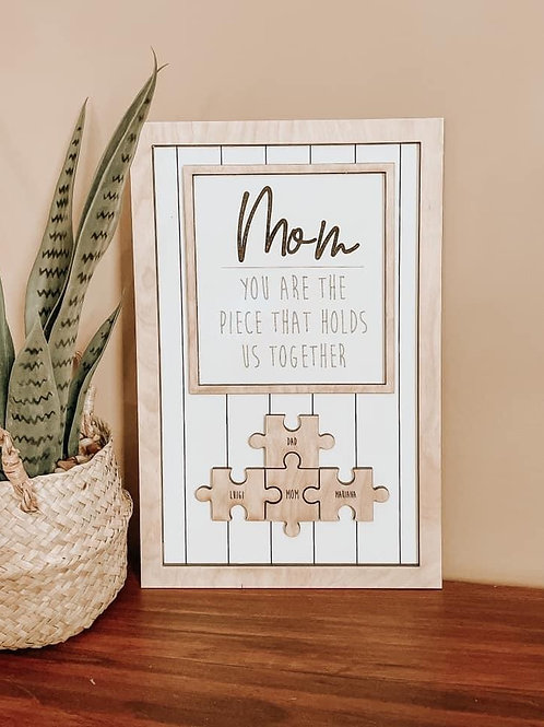 Mother's Day Puzzle Piece Sign