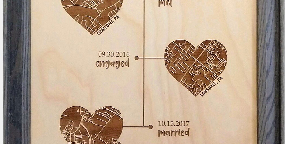 Our Love Story personalized map