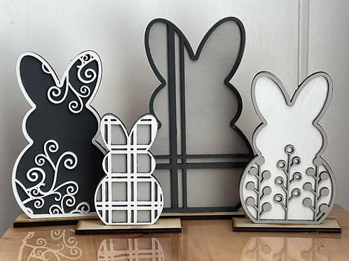 Decorative Easter Bunnies   Set of 4 or 8