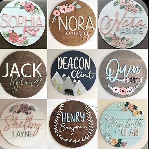 Personalized Nursery Round