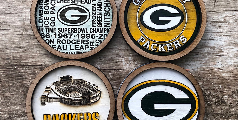 Packers Coasters (Set of 4 or 6)
