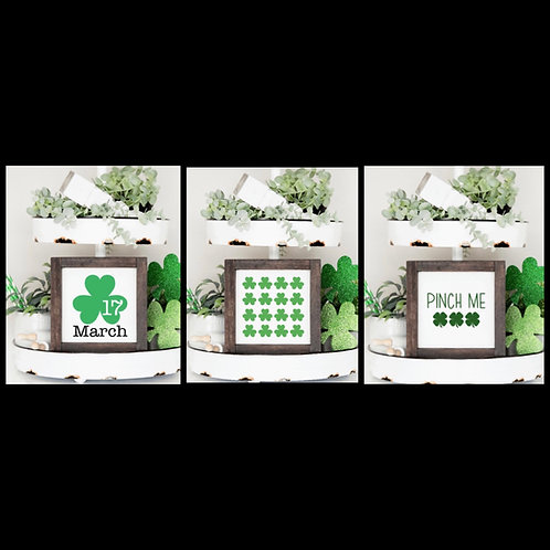 Set of 3 St. Patrick's Day Signs