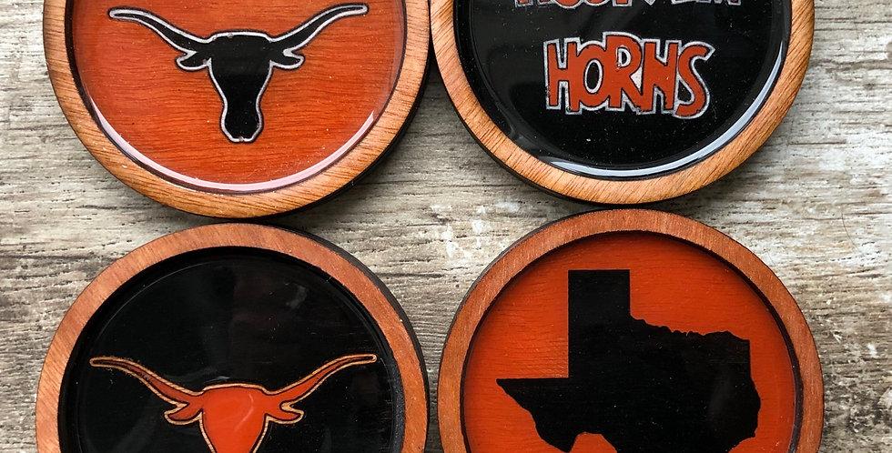 Texas Longhorns Coasters (Set of 4 or 6)
