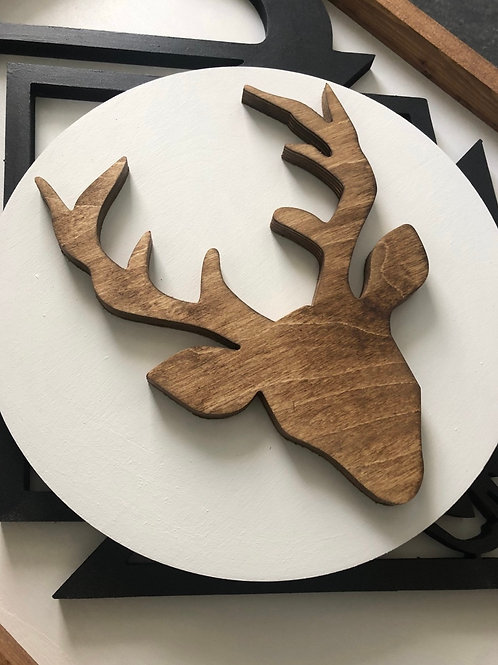 Modern Deer Silhouette Decor