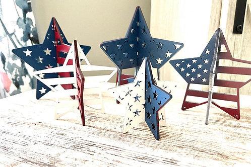 3D Stars | 4th of July Decor | Set of 5