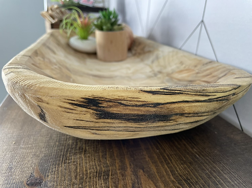 Spalted Hackberry Dough Bowl