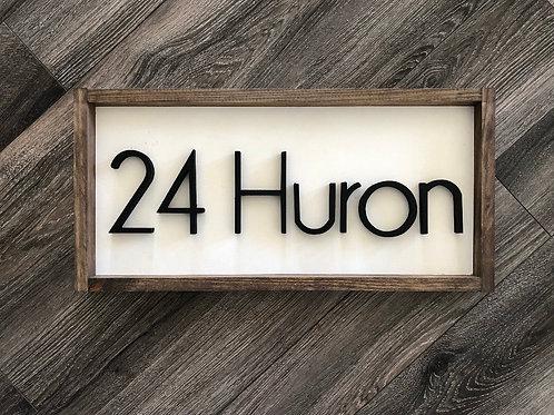 Address | House Number | Street Name Sign