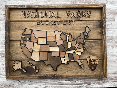 National Parks Bucket List Map