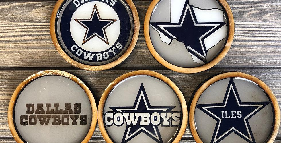 Cowboys coasters - Set of 5