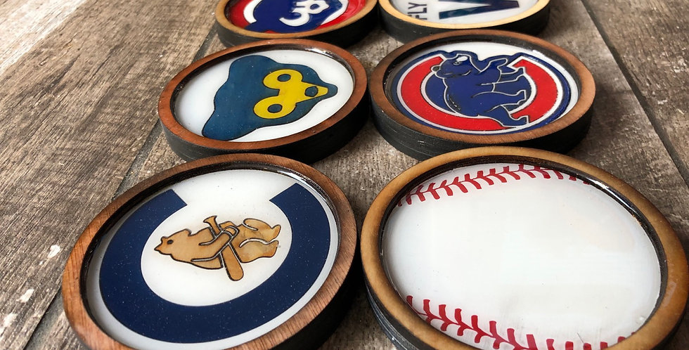 Chicago Cubs Coasters (Set of 4 or 6)